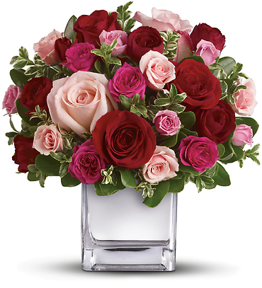 Love Medley Bouquet with Red Roses